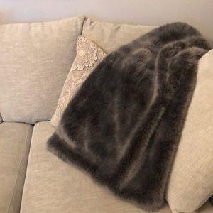 Restoration Hardware Luxe Faux Fur Throw